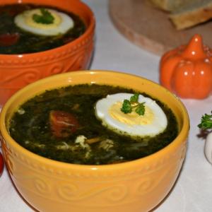 Рецепты супов - Куриный суп со шпинатом