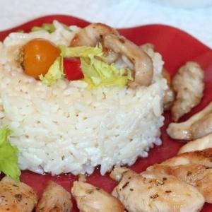 Фенхель - Курочка с лавровой солью и рисом