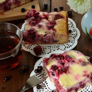 Малина - Летний пирог с ягодами