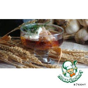 Хрен - Летний суп из холодца с квасом и хреном