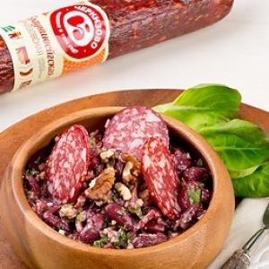 Колбаса - Лобио из красной фасоли по-Черкизовски