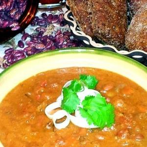 Рецепты кавказской кухни - Лобио с красной пёстрой фасолью