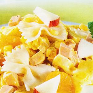 Салаты из мясопродуктов - Макаронный салат с фруктами