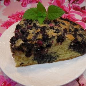 Ирга - Маковый пирог с иргой