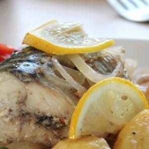 Рыба - Макрель в белом вине