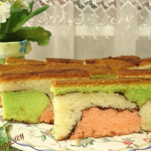 Рецепты кухни Океании - Малазийский красочный торт