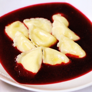 Рецепты супов - Малиновый суп с вишнёвыми варениками