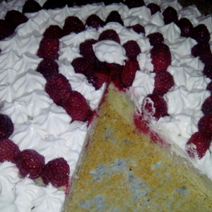 Малина - Малиновый тарт с бананами Приятный вечер