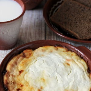 Масло сливочное - Манная запеканка