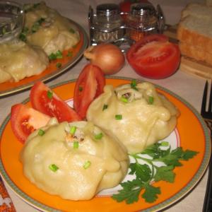 Горбуша - Манты с рыбой и рисом