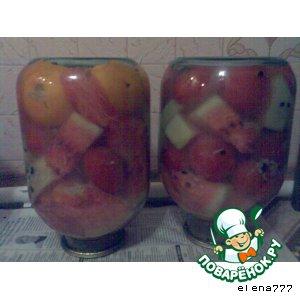 Арбуз - Маринованные арбузы с помидорами и горчицей