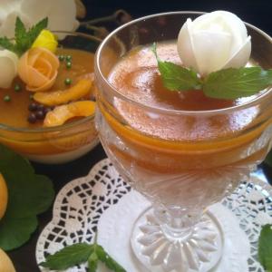 Мята - Медовая панна котта с абрикосовым желе