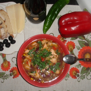 Фасоль - Мексиканский рыбный суп