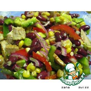 Рецепты латиноамериканской кухни - Мексиканский салат с индейкой
