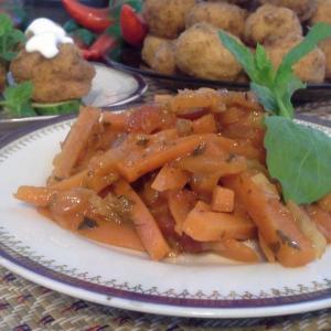 Перец белый - Морковный острый гарнир