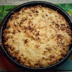 Овощные рецепты - Мясная запеканка с рисом и овощами