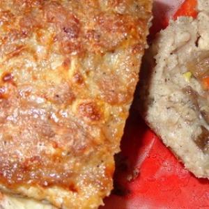 Опята - Мясной кекс с грибами и сыром
