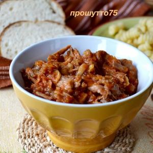 Рецепты итальянской кухни - Мясной соус-рагу из кролика