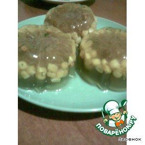 Капуста белокачанная - Мясные колобки в желе
