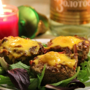 Рубленое мясо (фарш) - Мясные мини-кексы с яйцом