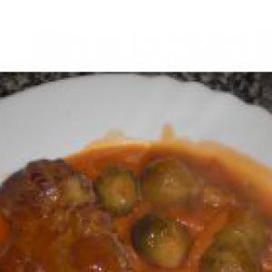 Капуста брюссельская - Мясо с брюссельской капустой