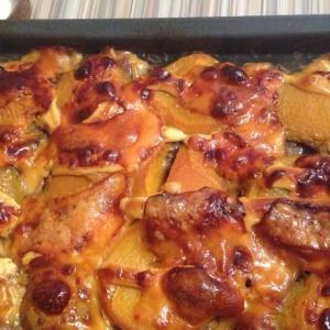 Персик - Мясо с персиками