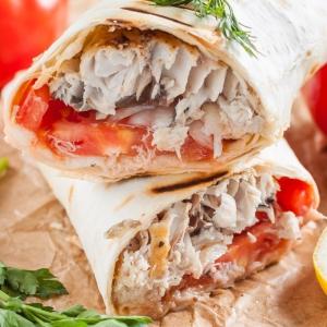Рецепты балканской кухни - Начиненный лаваш по-турецки Рыба с хлебом