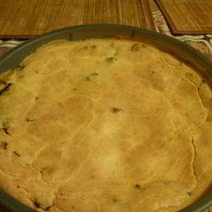 Рецепты для микроволновки - Наливной пирог с овощами и курицей