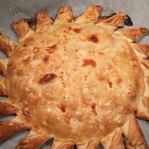 Моцарелла - Нежнейший пирог Солнечный с куриной грудкой