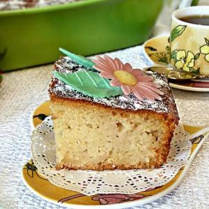Кефир - Нежный пирог с айвой