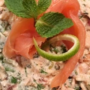 Петрушка - Нежный салат с лососем Любимому
