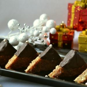 Кокос - Новогоднее пирожное Ореховые треугольники