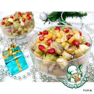 Гранат - Новогодний порционный салат