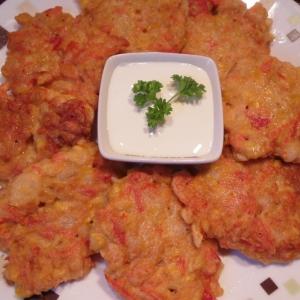 Рецепты индийской кухни - Оладьи с креветками и кукурузой