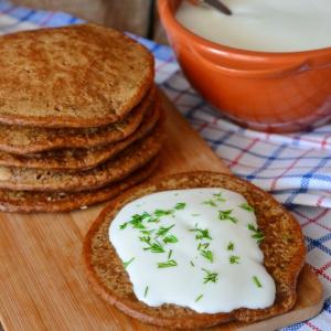 Мед - Оладьи со вкусом бородинского хлеба