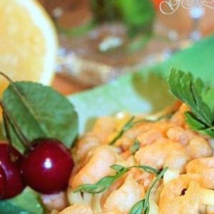 Креветки - Острые креветки по-тайски c соусом