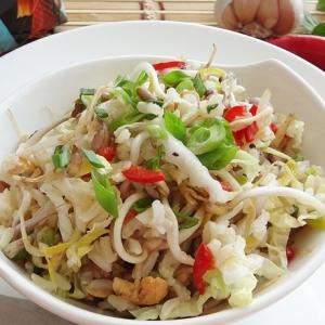 Виноград - Острый рисовый салат по-индонезийски