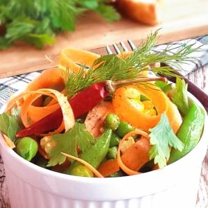 Кукуруза - Острый салат из замороженных овощей