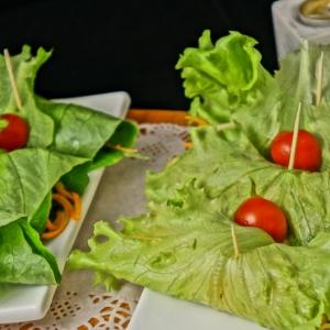Рецепты вьетнамской кухни - Острый салат с рисовой лапшой