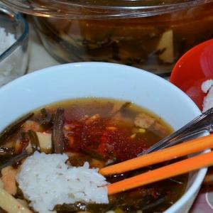 Рецепты азиатской кухни - Острый суп с морской капустой