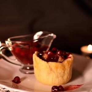 Брусника - Открытые пирожки с мясом