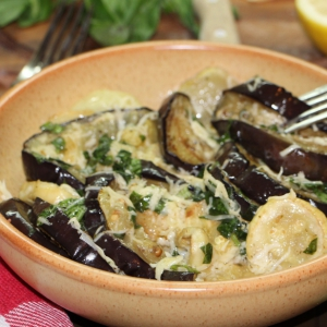 Пармезан - Овощи гриль с сырной заправкой