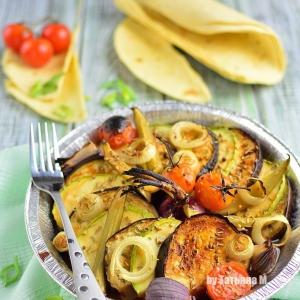 Кабачок - Овощная тарелка, запеченная под грилем