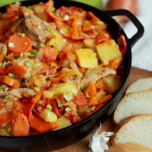 Говядина - Овощное рагу с говядиной