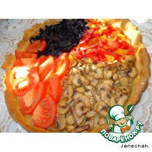 Капуста краснокочанная - Овощной пирог с грибами