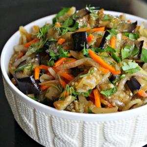 Морковь - Овощной салат с баклажанами