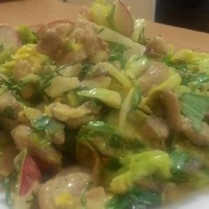 Редис - Овощной салат с курицей и заправкой