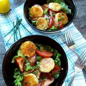 Рецепты салатов - Овощной салат с сырниками
