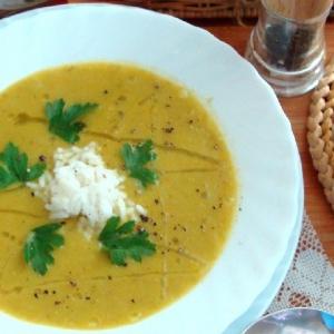 Вегетарианская кухня - Овощной суп-пюре с рисом