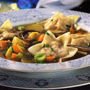 Рецепты супов - Овощной суп с равиоли